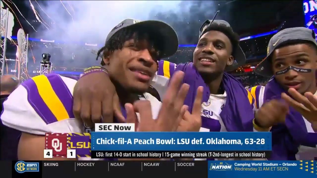 LSU overwhelms Oklahoma to reach national championship game ...