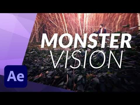 HOW TO CREATE A MONSTER VISION EFFECT in ADOBE AFTER EFFECTS TUTORIAL