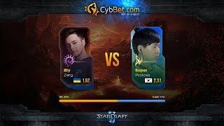StarCraft 2 LotV Cybbet Race Wars 2016 Day 3 Match 4: Bly vs Super(Матч третьего игрового дня турнира Cybbet Race Wars. Анонсы стримов: https://twitter.com/Alex007UA Партнер трансляции: http://cybbets.com..., 2016-01-30T09:00:02.000Z)