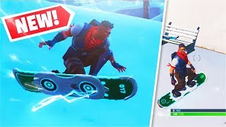 *NEW* Driftboard Vehicle Gameplay + Spawn Location! (Fortnite)