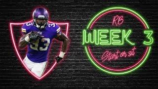 2019 Fantasy Football - Week 3 Running Back Start or Sit