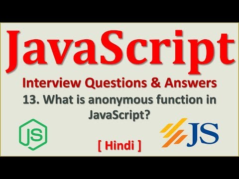 13-Anonymous Function in JavaScript  | JavaScript Tutorial | JavaScript Interview Questions[Hindi] thumbnail