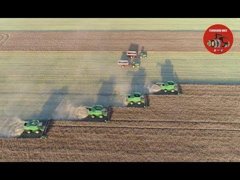 2018 Canola Harvest Near Oak Bluff Manitoba Canada