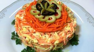 Праздничный Крабовый Салат РЫЖИК. Просто и Вкусно!   Crab's  Salad