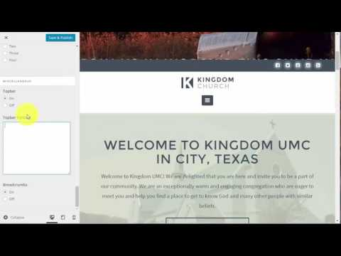 Cornerstone: Editing Header and Footer Information on your Church Website