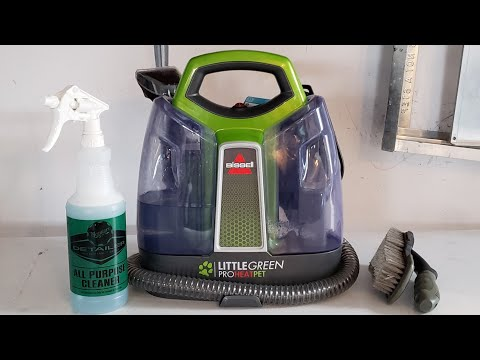 Cleaning Very Dirty Chairs With The Bissel Little Green Proheat Pet (major Before And After)