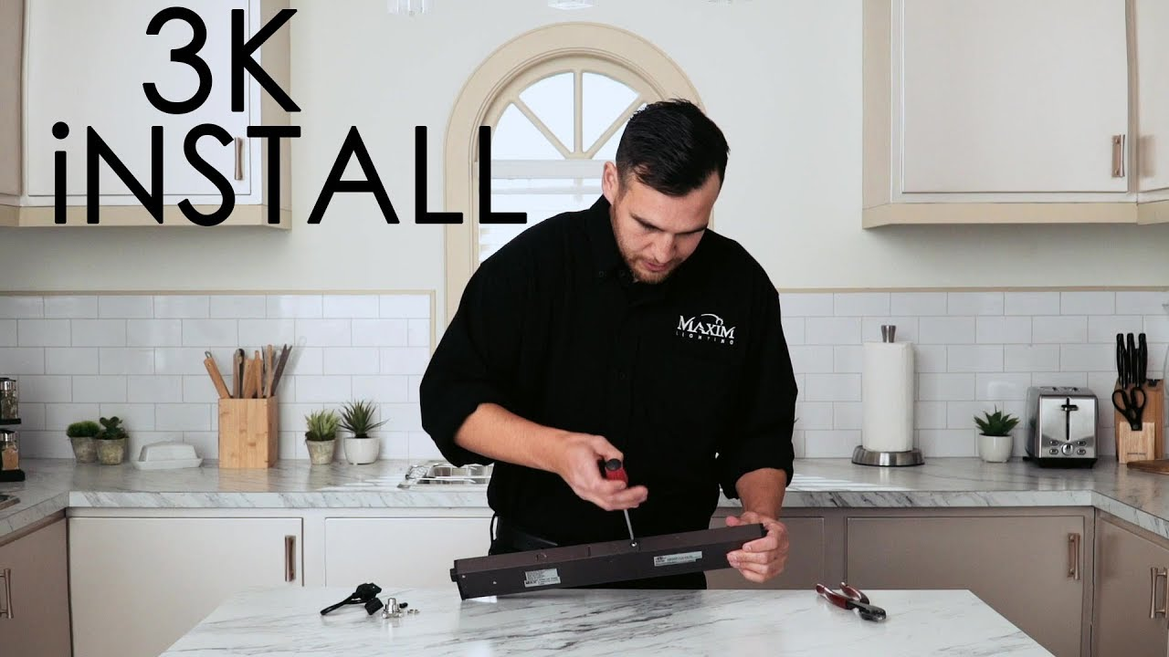 How To Install The 3K Under Cabinet By Maxim Lighting