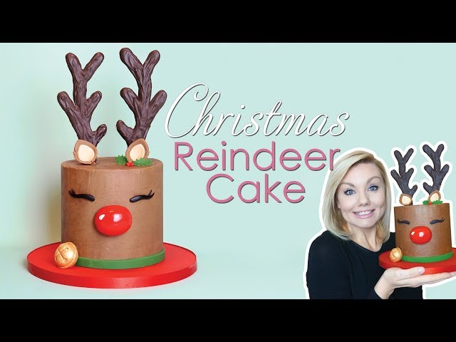 Christmas Reindeer / Rudolph Cake decorating Tutorial - With Antler Templates