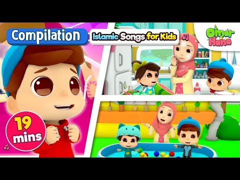 Omar & Hana | SERIES COMPILATION| 19 Mins | Islamic Cartoon for Kids