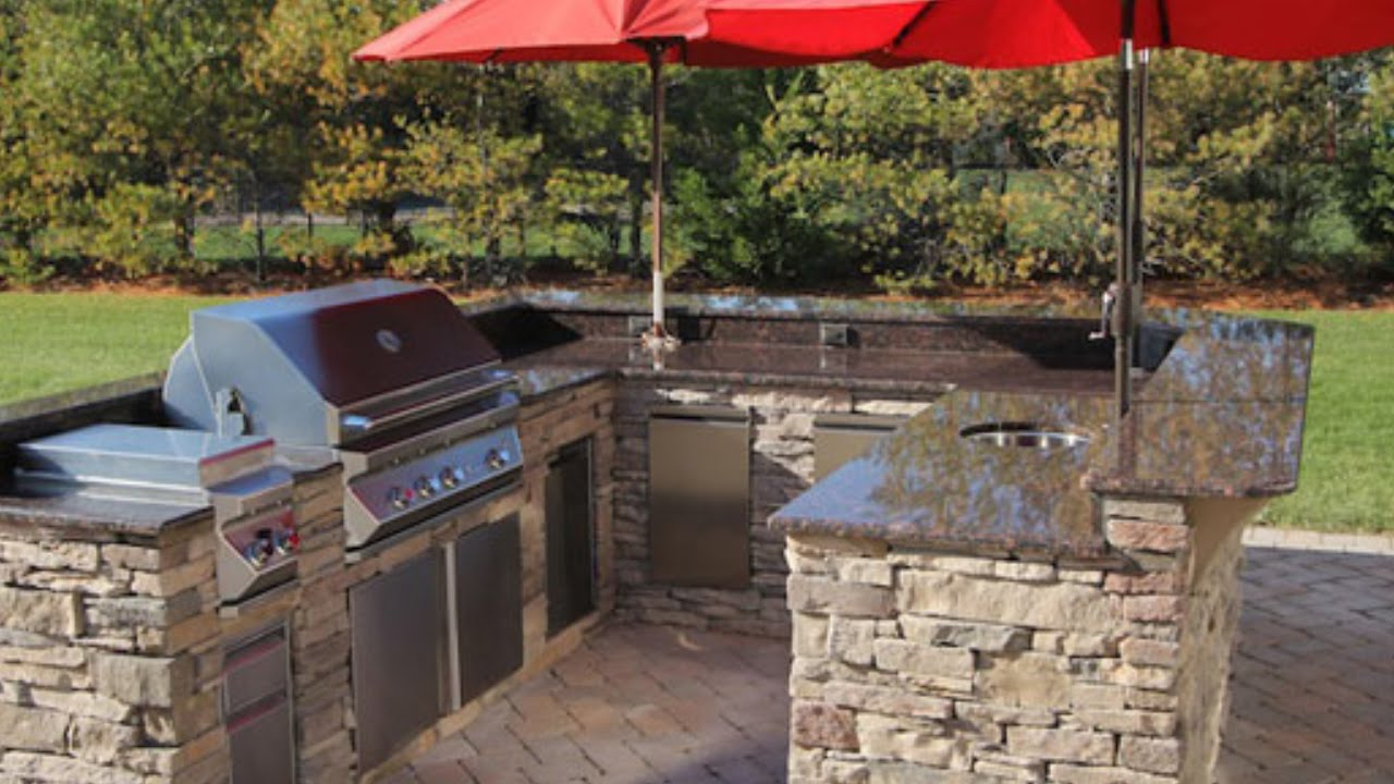 Outdoor Patio Kitchen Design Downers Grove   YouTube