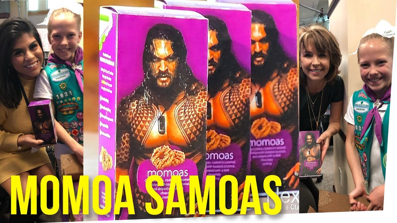 Girl Scout Used Jason Momoa S Picture To Sell Cookies Youtube