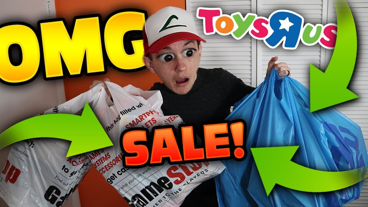 HUGE GAMESTOP & TOYS R US SALE HAUL!! Buying Pokemon Cards and Toys