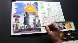 Sultan Mosque Sketch Narration