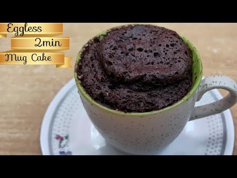 Eggless Chocolate Mug Cake in just 2 minutes || How to ...
