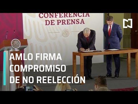 AMLO firma compromiso de no reelección - En Punto con Denise Maerker