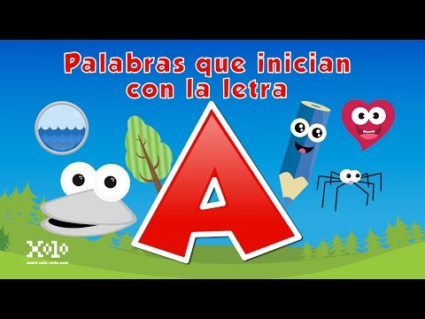 Words that start with the letter A in Spanish for children - Videos Aprende