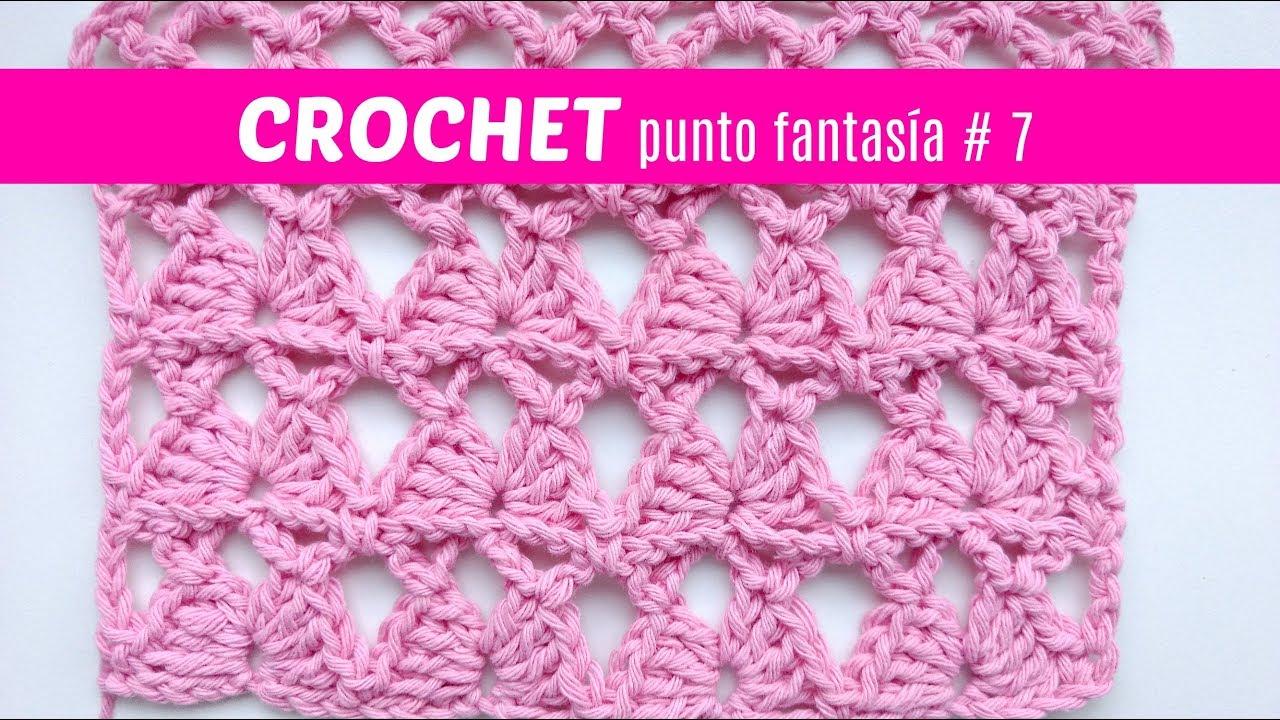 Puntos Fantasia A Crochet 7 Youtube