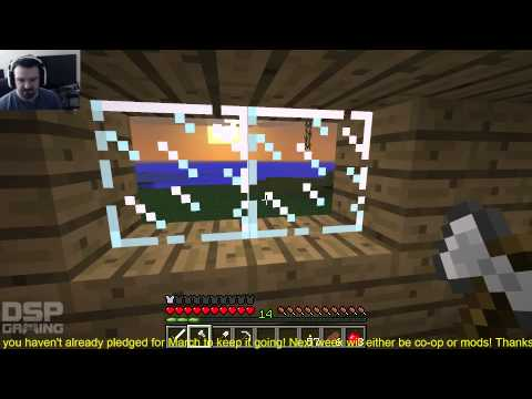 Minecraft 1st Run EVER pt9 - Encasing the Mine!