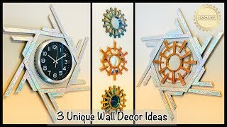 3 Amazing Wall Decor Ideas| gadac diy| Unique wall decoration ideas| wall hanging craft ideas| diy