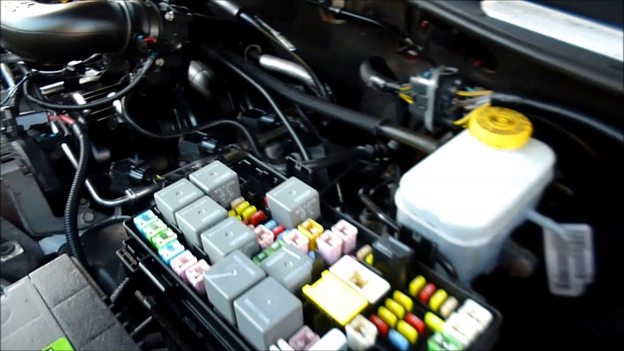 Jeep liberty fuse box and obd locations youtube
