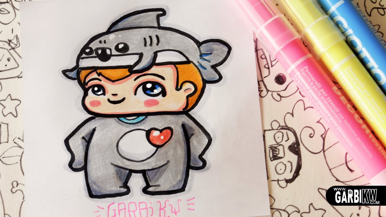 Shark Boy - How To Draw Chibi and Kawaii Characters by ...