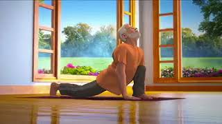 Yoga with Modi : Suryanamaskar Hindi