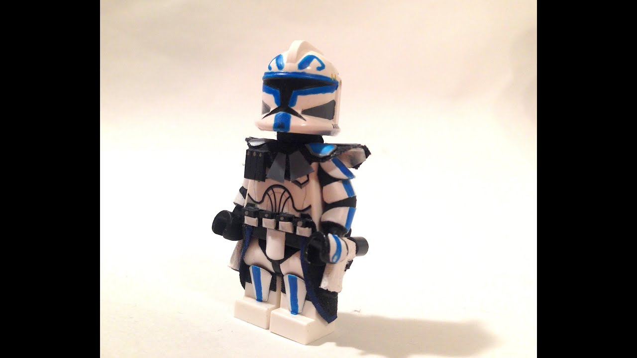 Custom Lego Star Wars The Clone Wars Captain Rex Youtube