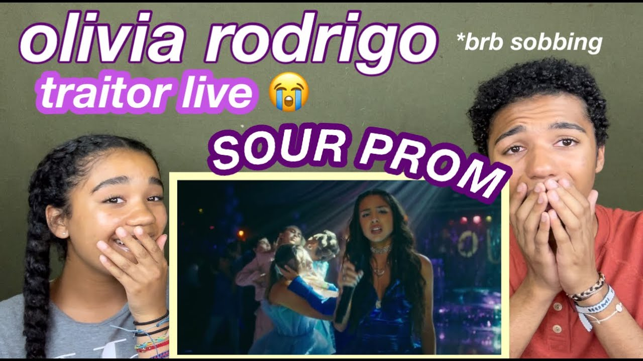 reaction to traitor live from sour prom    josiah and whitley