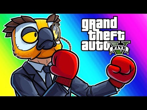 GTA5 Online Funny Moments - Vehicle Avalanche and the Gentleman's Fight!
