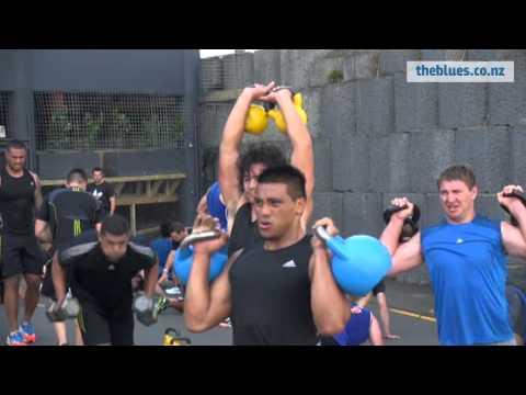 Blues pre-season training at Ludus Magnus Gym