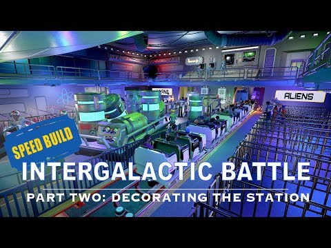 Speed build: Intergalactic Battle (part 2) - Decorating the station [Planet Coaster]