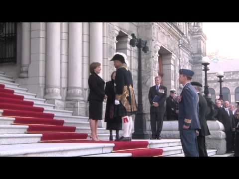 Changing of B.C.'s Lieutenant Governors
