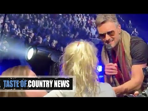 Bob Delmont - Eric Church sings to a 9 year old girl at concert