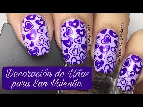 Decoración de Uñas para San Valentin - Colaboración con Jade Nail Art Salazar