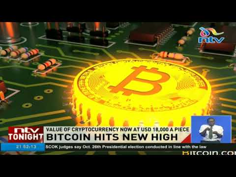 Bitcoin Hits New High As Value Now At $18,000 A Piece