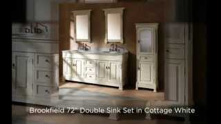 James Martin Solid Wood Bathroom Vanities - Brookfield Collection In Cottage White - Homethangs.com