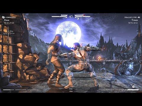 2'nd set Deus (Kano,Cybernetic/Commando) vs Timen (Liu Kang)