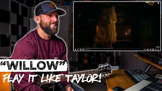 How To Play Willow LIKE TAYLOR SWIFT   REACTION + Guitar Tutorial and Chords