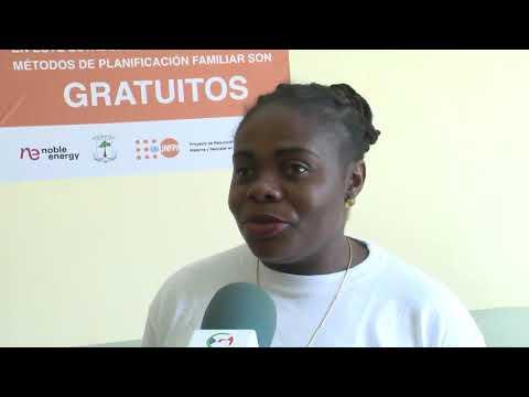Entrega de premios a los centros de salud de Bioko-Norte por el Proyecto Reducción de la Mortaliadad Materna y Neonatal del UNFPA.