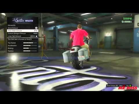 GTA 5 Online Franklin's Motorcycle Western Bagger Location ...