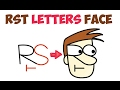 How to Draw Cartoon Faces from Letters with Easy Step by Step Drawing Tutorial for Kids