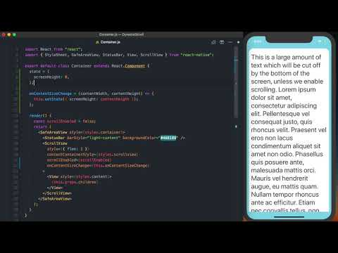 Enable Scroll in a React Native ScrollView Based on the