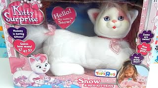 Kitty Surprise Snow Toy Plush Cat - How Many Kittens Will She Have?