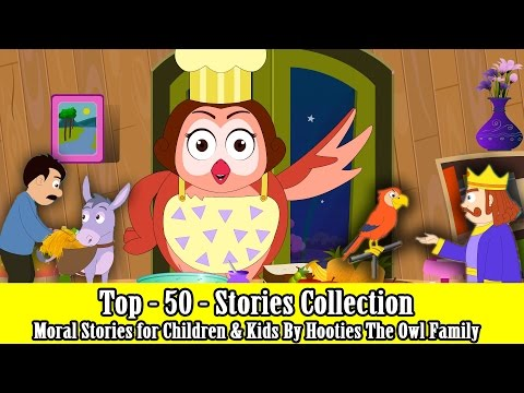 Top 50 Best Stories  Story Collection For Kids 2016  Moral Stories for Children  The Owl Family