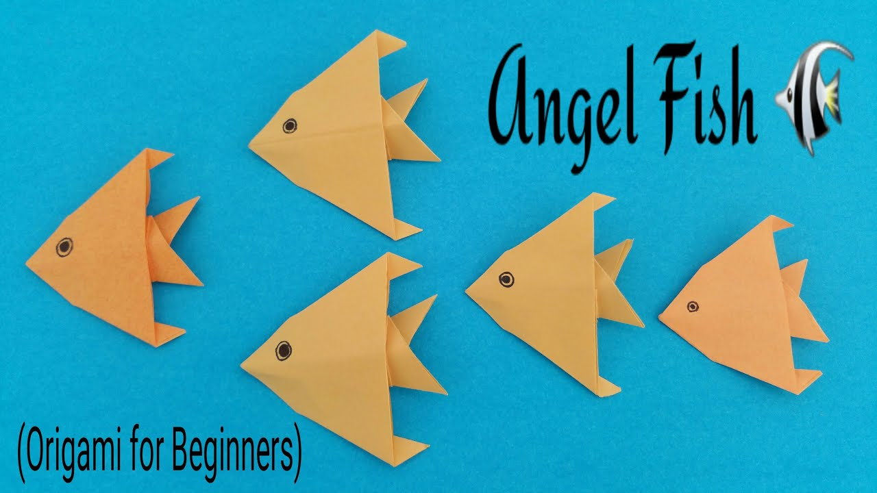 "How to make an easy paper ""Angel Fish"" - Origami for ... - photo#27"
