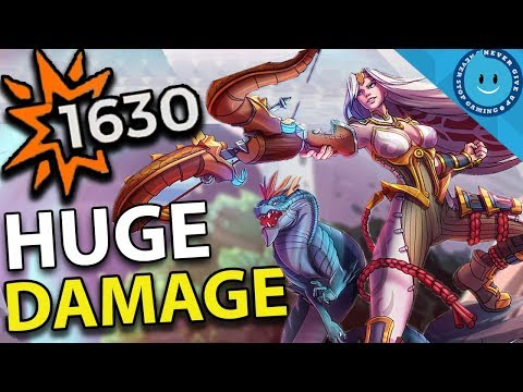 BIG DAMAGE CASSIE BUILD! 1630 DAMAGE PER SHOT! DRAGONCALLER SKIN! (Paladins Gameplay)
