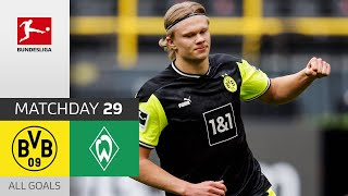 Haaland Brace Secures BVB Win! Borussia Dortmund - SV Werder Bremen | 4-1 | All Goals | MD 29