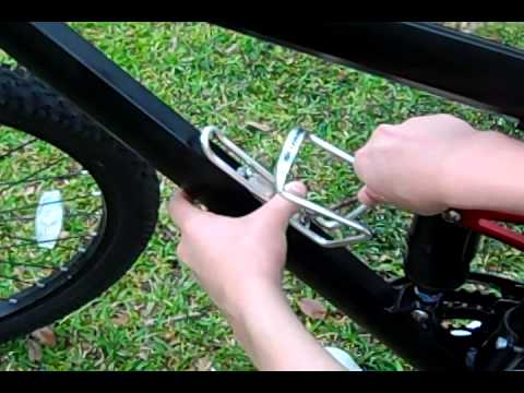 How To Install A Water Bottle Holder On A Mountain Bike