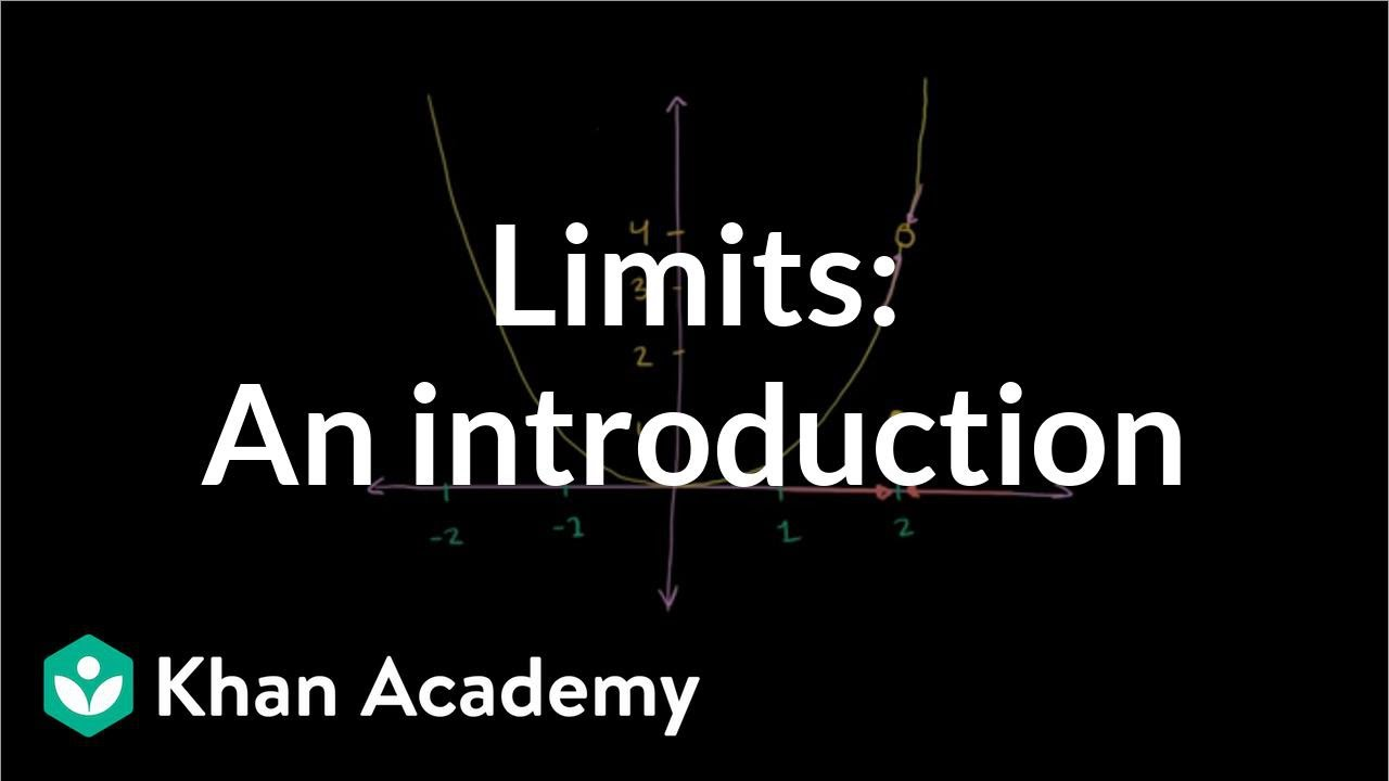 Limits intro (video)  Limits and continuity  Khan Academy