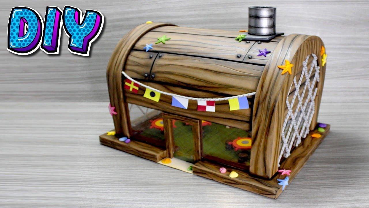 Diorama Siri Cascudo - Bob Esponja DIY.